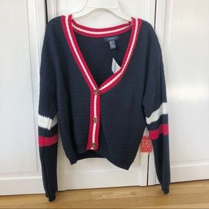 red ,white & blue forever 21 sweater